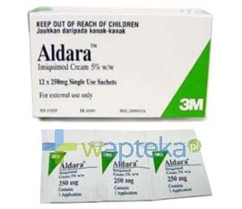 3M MEDICA Aldara 5% krem (50 mg / g) 250 mg 12 saszetek