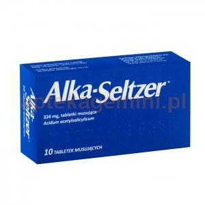 INPHARM Alka-Seltzer, 10 tabletek musujących IMPORT RÓWNOLEGŁY