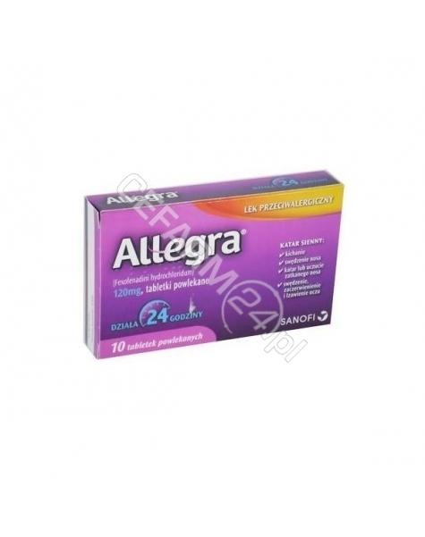 SANOFI Allegra 120 mg x 10 tabl powlekanych