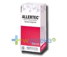 WARSZAWSKIE ZAKŁ.FARM. POLFA S.A. Allertec (5 mg / 5 ml) syrop 100 ml