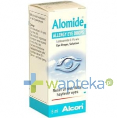 ALCON POLSKA SP. Z O.O. Alomide 0,1% krople do oczu 5 ml