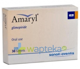 SANOFI AVENTIS SP. Z O.O. Amaryl 3 tabletki 3mg 30 sztuk