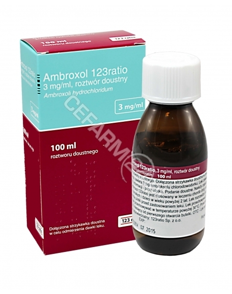 TEVA Ambroxol 123ratio 3 mg/ml roztwór doustny 100 ml