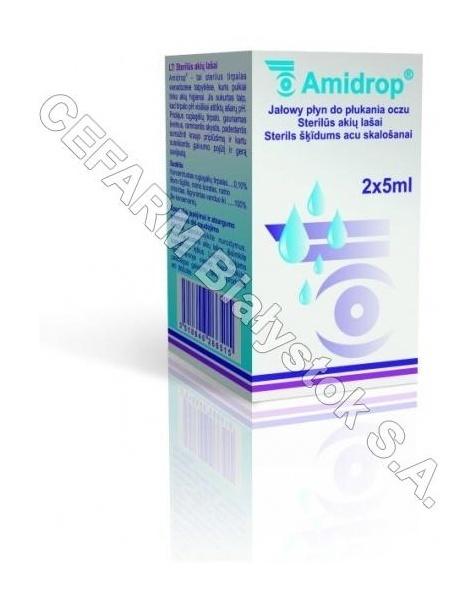 GILBERT Amidrop jałowy płyn do płukania oczu 2 x 5 ml