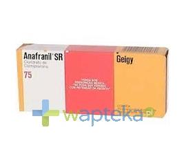 TEVA PHARMACEUTICALS POLSKA SP. Z O. O. Anafranil SR 75 tabletki powlekane o przedłużonym uwalnianiu 75 mg 20 sztuk