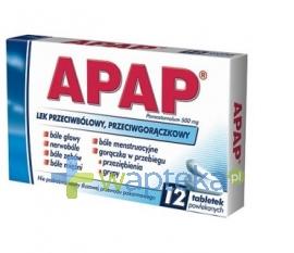 US PHARMACIA SP. Z O.O. Apap 500 mg 12 tabletek