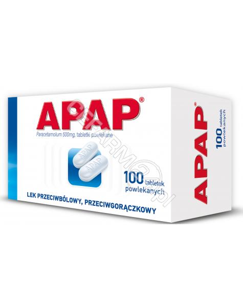US PHARMACIA Apap 500 mg x 100 tabl powlekanych