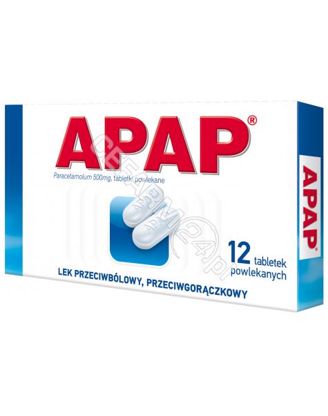 US PHARMACIA Apap 500 mg x 12 tabl powlekanych