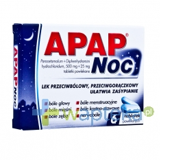 US PHARMACIA SP. Z O.O. Apap Noc 6 tabletek