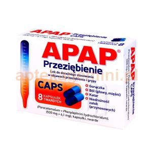 US PHARMACIA SP. Z O.O. Apap Przeziębienie CAPS 8 kapsułek