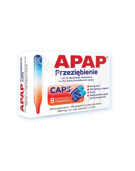 US PHARMACIA Apap przeziębienie caps x 8 kaps