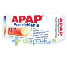 US PHARMACIA SP. Z O.O. Apap Przeziębienie FAST 10 tabletek musujących