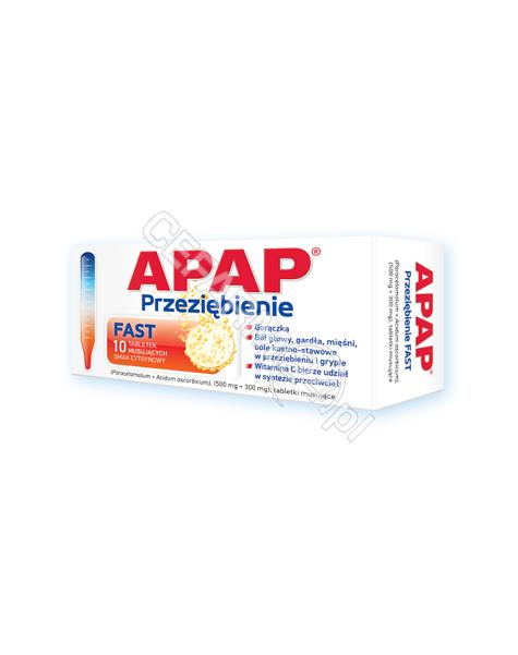 US PHARMACIA Apap przeziębienie fast (Apap c plus) x 10 tabl musujących