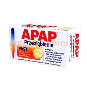 USP ZDROWIE Apap Przeziębienie Fast ( stary Apap C Plus), 10 tabletek musujących