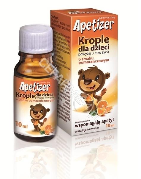AFLOFARM Apetizer krople dla dzieci o smaku pomarańczowym 10 ml