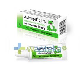 HECPHARMA APHTIGEL 0,1% żel do pielęgnacji jamy ustnej 5g