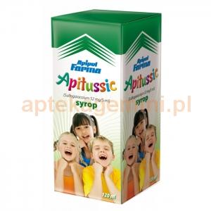 APIPOL FARMA Apitussic, syrop, dla dzieci powyżej 6 lat, 120ml