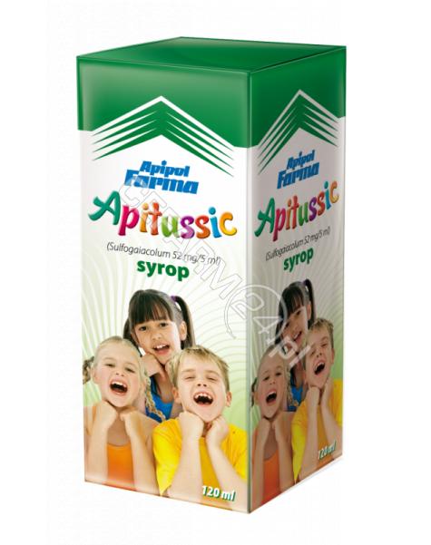 APIPOL-FARMA Apitussic syrop wykrztuśny dla dzieci 120 ml