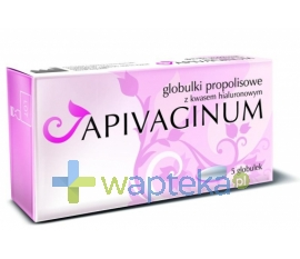 VITAPRODUKT Apivaginum globulki dopochwowe z kwasem hialuronowym i propolisem 5szt