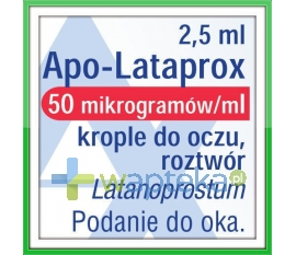 APOTEX EUROPE B.V. Apo-Lataprox 0,05mg/ml krople do oczu 2,5ml