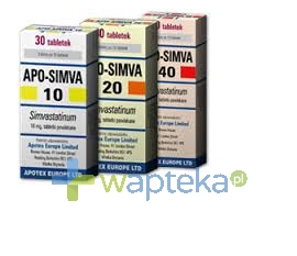 APOTEX EUROPE B.V. Apo-Simva 20 tabletki powlekane 20mg 30 sztuk
