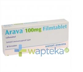 SANOFI AVENTIS SP. Z O.O. Arava 100mg tabletki powlekane 3 sztuki