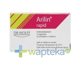 DR AUGUST WOLFF GMBH & CO. Arilin rapid 1g globulki dopochwowe 2 sztuki
