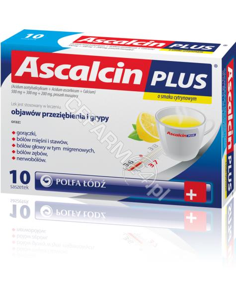 POLFA ŁÓDŹ Ascalcin plus cytrynowy x 10 sasz