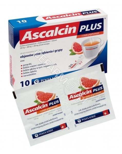 POLFA ŁÓDŹ Ascalcin plus grejpfrutowy x 10 sasz