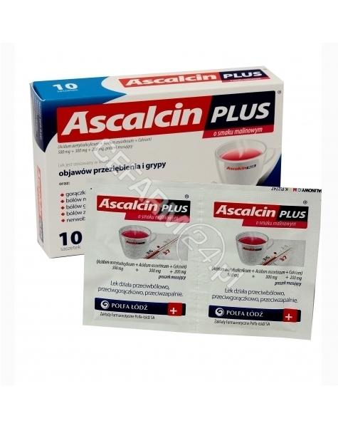POLFA ŁÓDŹ Ascalcin plus malinowy x 10 sasz