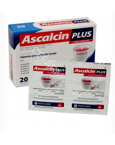 POLFA ŁÓDŹ Ascalcin plus malinowy x 20 sasz (data ważności <span class=