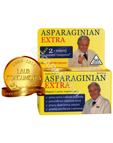 UNIPHAR Asparaginian extra x 50 tabl
