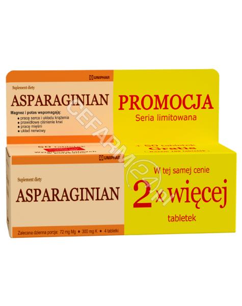 UNIPHAR Asparaginian magnezu potasu 50 tabl + 50 tabl