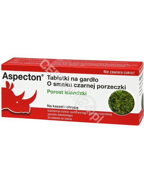 KREWEL MEUSE Aspecton tabletki na gardło o smaku czarnej porzeczki x 30 tabl