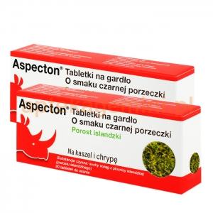 KREWEL MEUSELBACH Aspecton,tabletki na gardło,smak czarnej porzeczki 30 sztuk + ASPECTON 30 TABLETEK OKAZJA