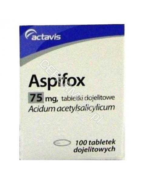 ACTAVIS Aspifox 75 mg x 100 tabl dojelitowych