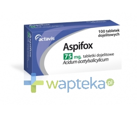 ACTAVIS GROUP PTC EHF Aspifox 75mg 100 tabletek