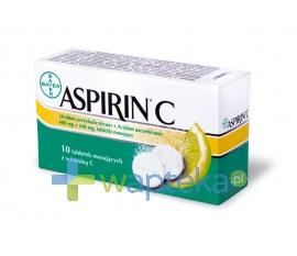BAYER HEALTHCARE AG Aspirin C 10 tabletek musujących