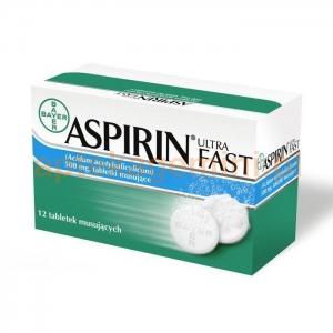 BAYER Aspirin Ultra Fast (Migrena), 12 tabletek musujących