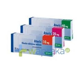 KRKA POLSKA SP. Z O.O. Atoris 40 mg tabletki powlekane 30 sztuk
