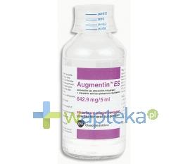 GLAXO WELLCOME S.A. Augmentin ES preparat do przygotowania zawiesiny (642,9 mg / 5 ml) 100 ml