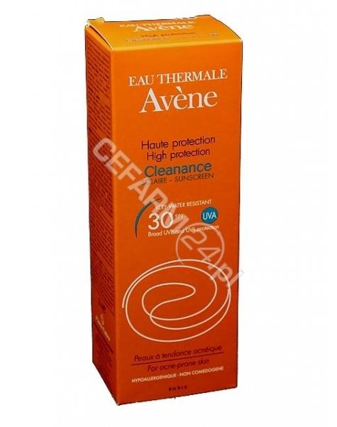 AVENE Avene Cleanance solaire spf 30 - emulsja z wysoką ochroną przeciwsłoneczną spf 30 do skóry trądzikowej 50 ml (data ważności <span class=