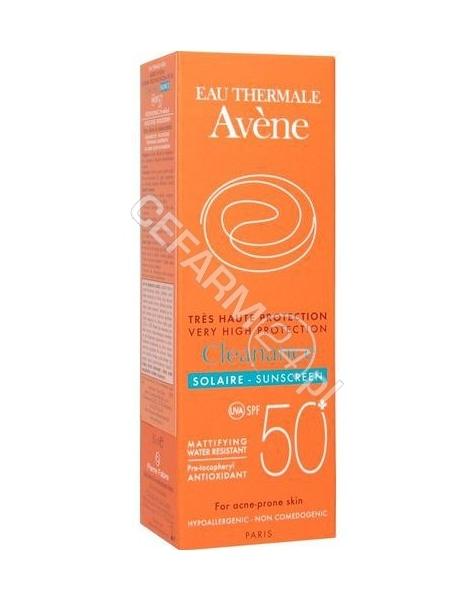 AVENE Avene Cleanance solaire spf 50+ - emulsja z wysoką ochroną przeciwsłoneczną spf 50+ do skóry trądzikowej 50 ml