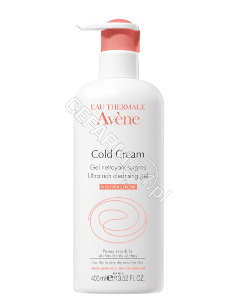 AVENE Avene cold cream żel do mycia 400 ml