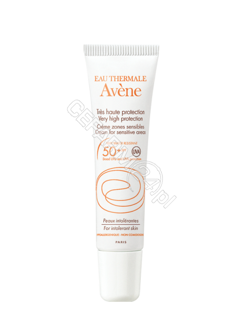 AVENE Avene krem do szczególnie wrażliwych okolic ciała spf 50 do skóry nadwrażliwej i alergicznej dzieci i dorosłych 15 ml