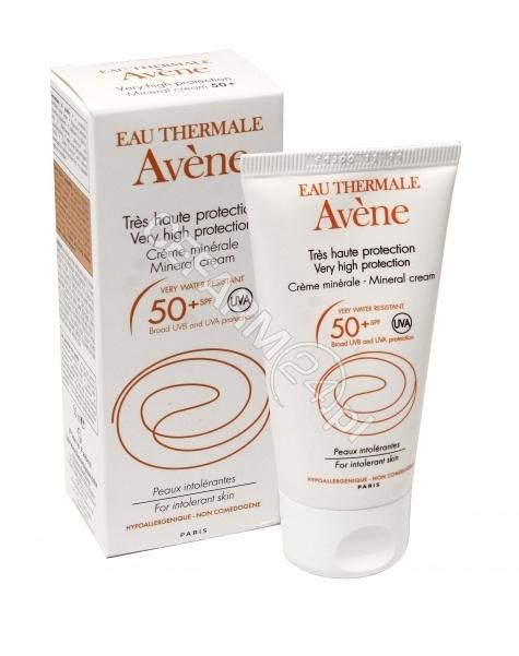 AVENE Avene krem mineralny z wysoką ochroną przeciwsłoneczną spf 50+ do skóry nadwrażliwej i alergicznej dzieci i dorosłych 50 ml