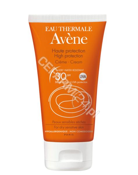 AVENE Avene krem z wysoką ochroną przeciwsłoneczną spf 30 do skóry wrażliwej suchej 50 ml