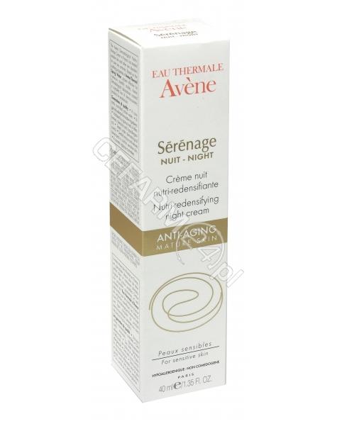 AVENE Avene serenage krem odżywczy przywracający gęstość skóry na noc 40 ml + Avene woda termalna 50 ml