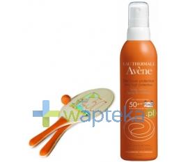 PIERRE FABRE AVENE SŁOŃCE Spray SPF 50+ dla dzieci mleczko 200ml + PALETKI do gry plażowej GRATIS!