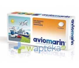PLIVA KRAKÓW Z.F. S.A. Aviomarin 0,05g 5 tabletek